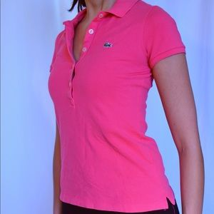 Lacoste pink tee shirt 34
